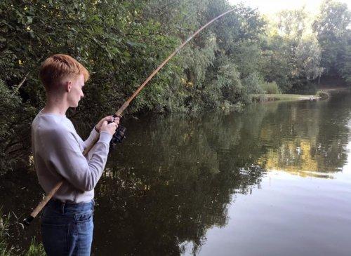 Young carp angler